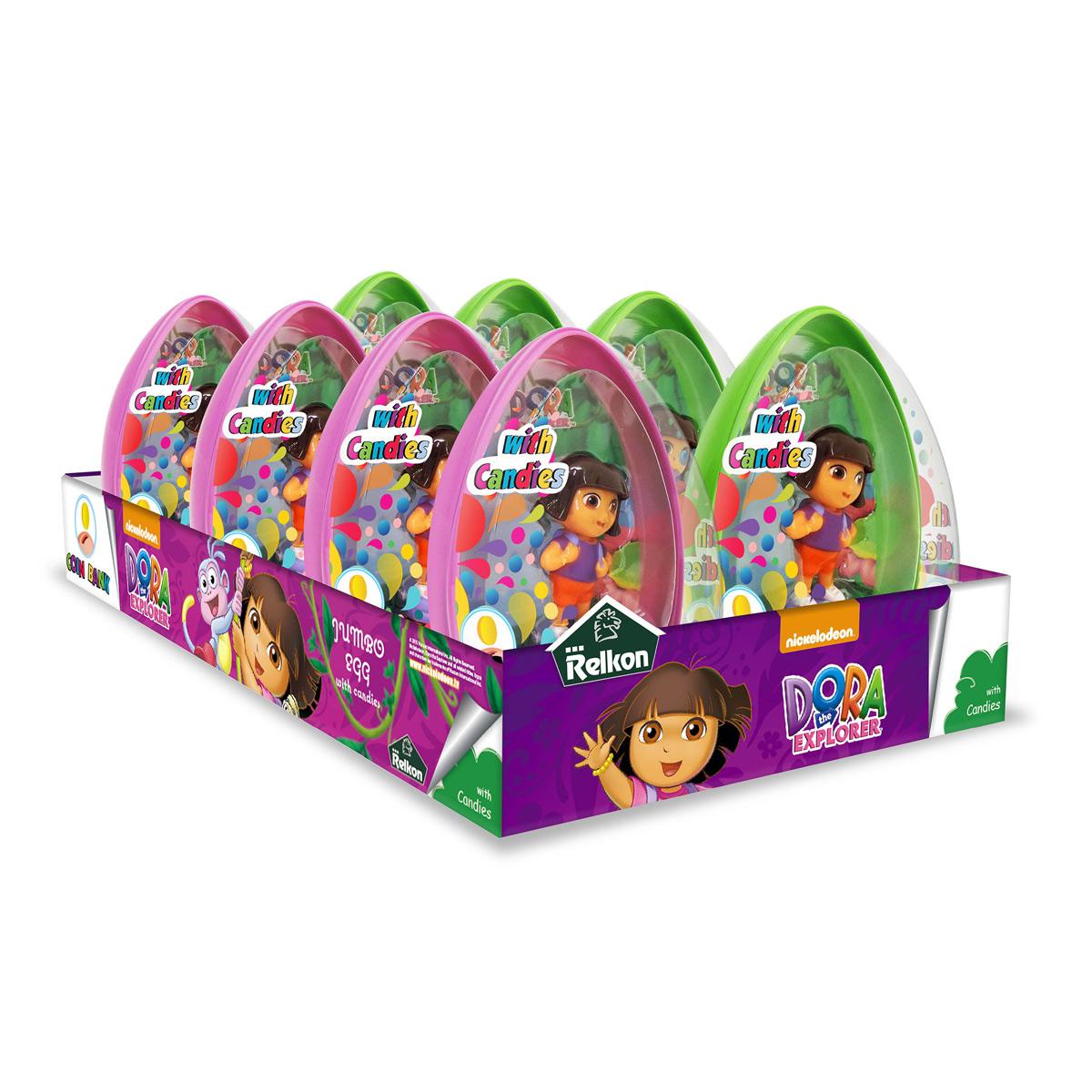 oeuf géant avec un jouet et bonbons DORA