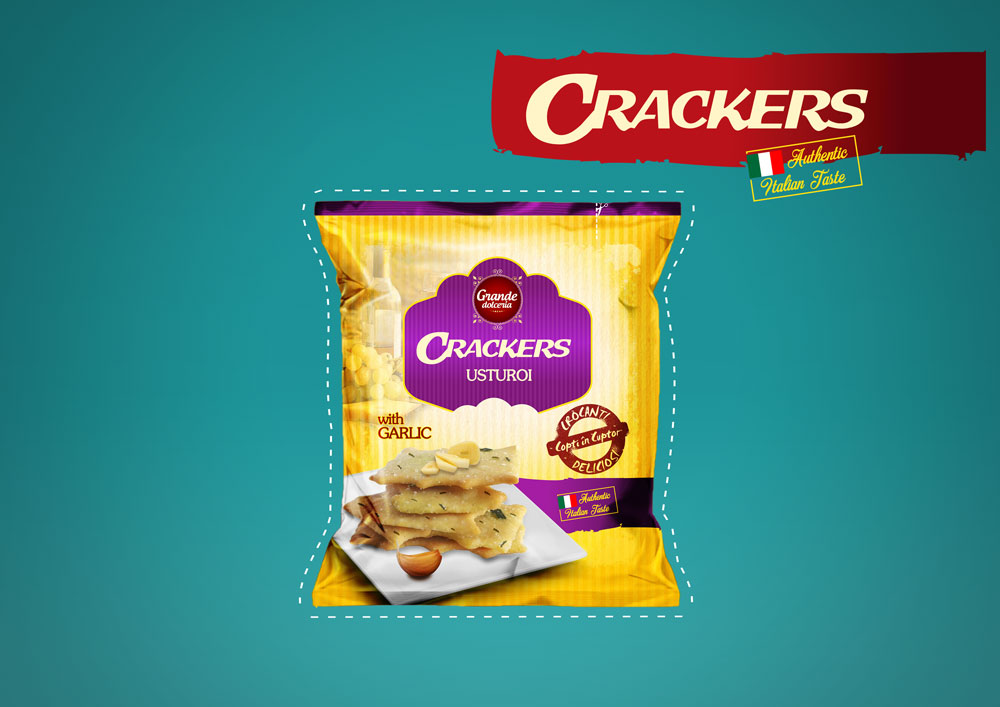 CRACKERS WITH GARLIC