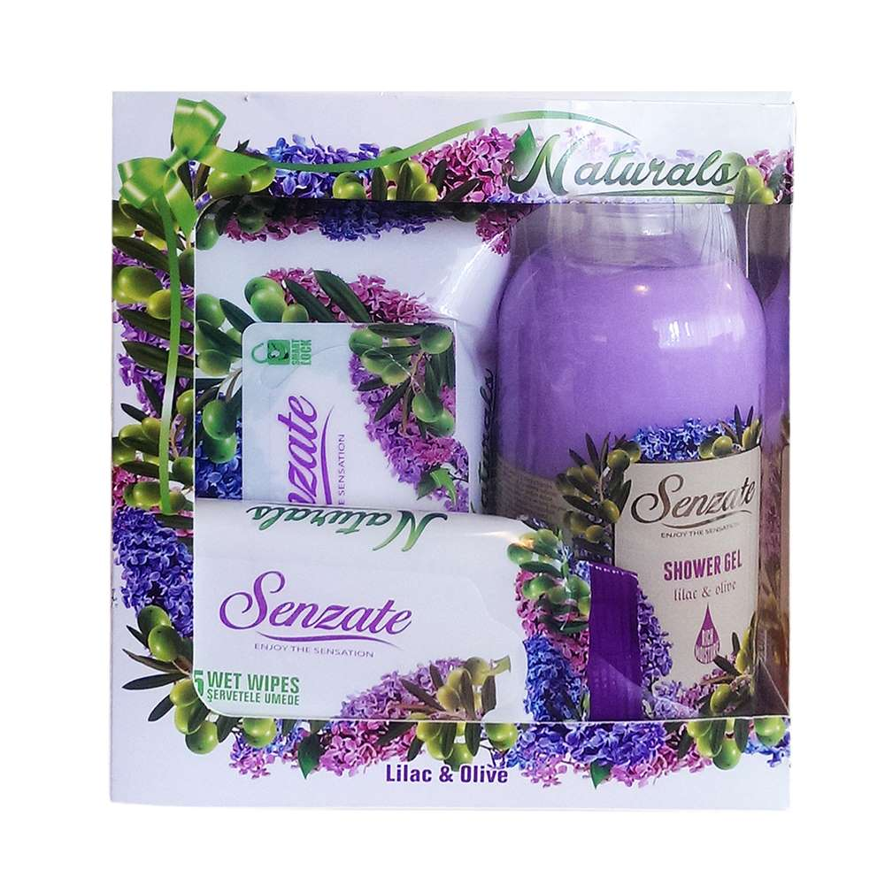 SENZATE NATURALS GIFT PACK LILAC&OLIVE