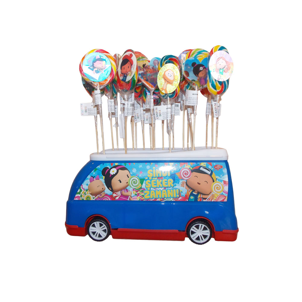 HAND MADE LOLLIPOPS IN TOY CAR HOLDER
