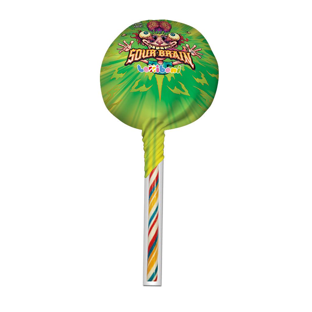 Sour Brain Big Lollipop Green