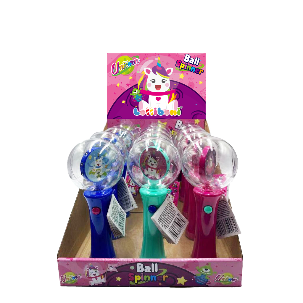 Unicorn Ball Spinner with Candy