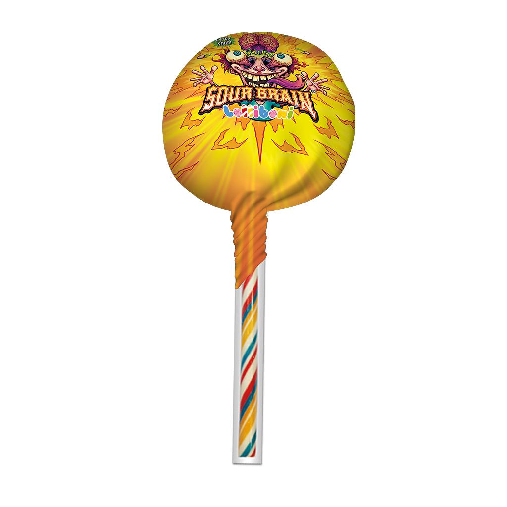 Sour Brain Big Lollipop Orange