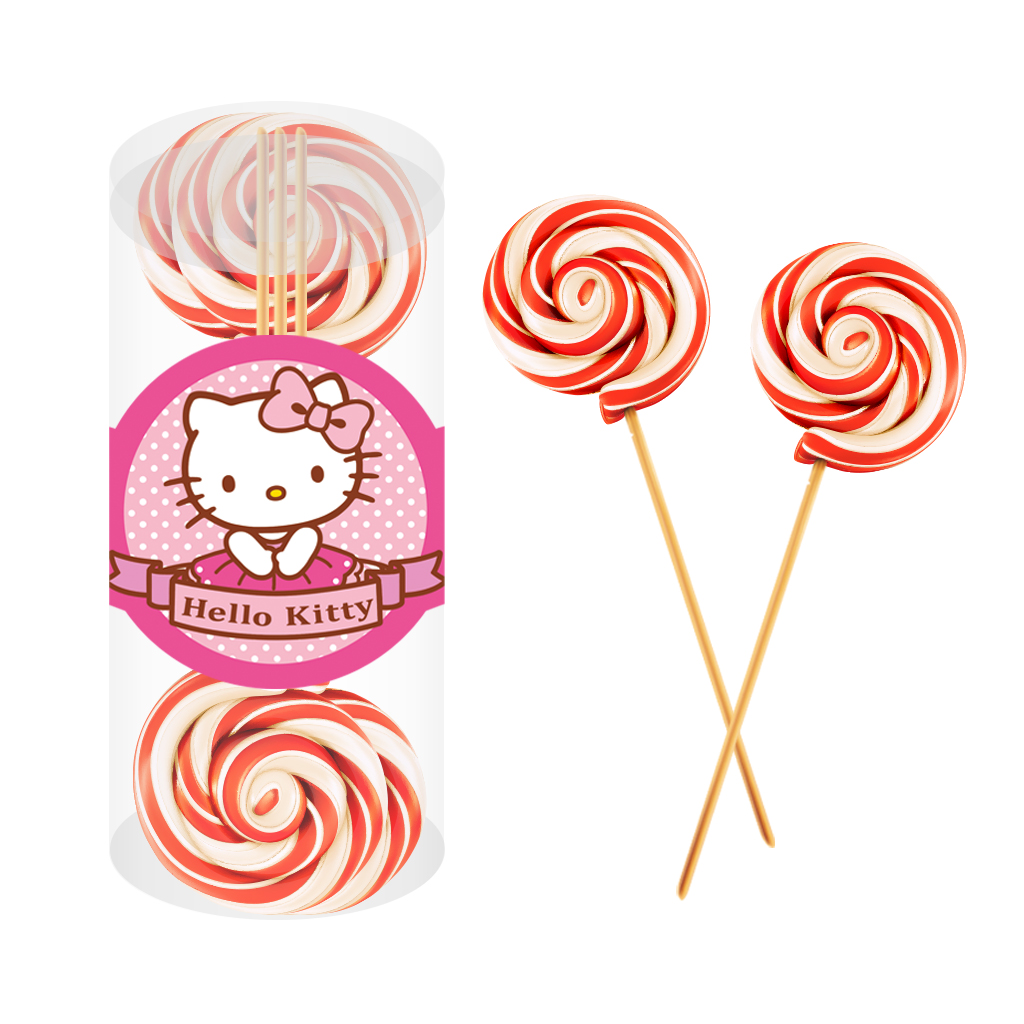 Hello Kitty Swirl Lollipop 6x30g