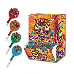 Sour Brain Lollipop Candy, 16 g
