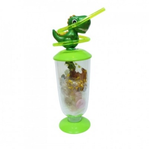 Green Dinosaur Jar with Candies